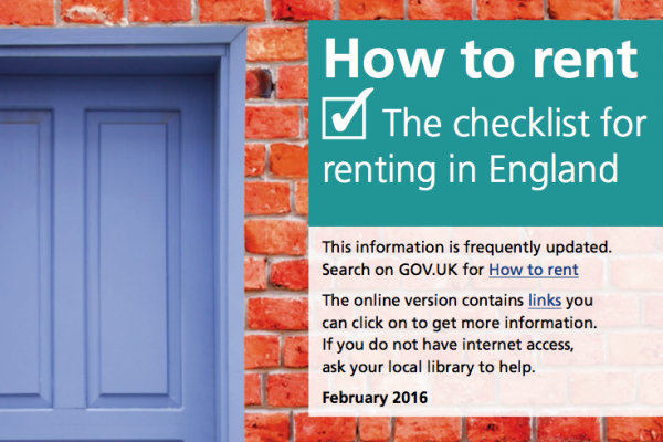 How To Rent - The Checklist for renting in England