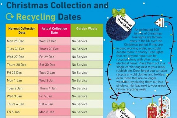 Christmas & New Year Rubbish Collection Dates
